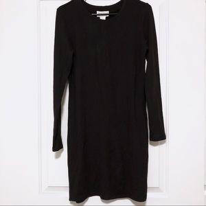 Black Long Sleeve Jersey Dress